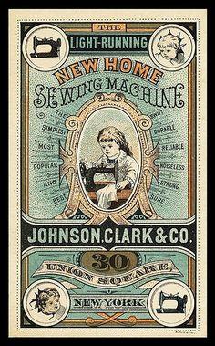 Vintage Sewing Machine Advertisement