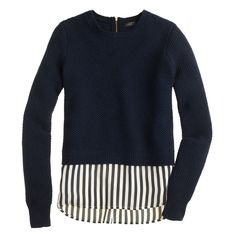 Lambswool shirttail sweater in stripe : Pullovers | J.Crew