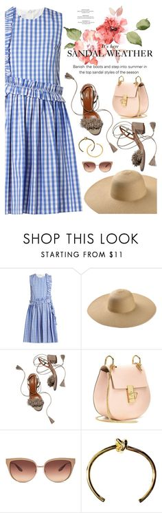 """sandal weather"" by catarina-lau-sousa ❤ liked on Polyvore featuring MSGM, Aquazzura, Chloé and Barton Perreira"