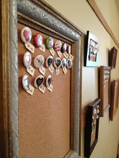 shop display for pinback buttons and badges.