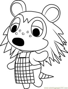 Fauna the deer Animal Crossing coloring page Collection of