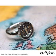 Free worldwide shipping on all our collection! You can find this stylish anchor ring at our Etsy store (devosjewellery). Designed and made on the Gold Coast Australia.