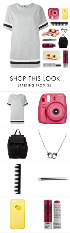 """""""i don't want to show you my feelings"""" by kristen-gregory-sexy-sports-babe ❤ liked on Polyvore featuring MSGM, Fujifilm, Mansur Gavriel, Retrò, GHD, Typhoon, Korres and Colbert MD"""