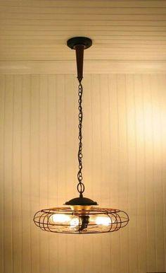 Vintage fan turned light