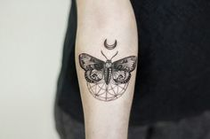 Moon and butterfly