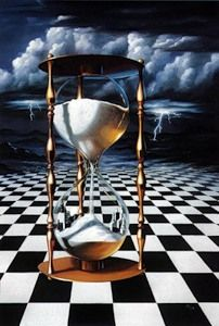 """""""Tournament of Time"""" ~ by Jim Todd Artist Foto Gif, Art Moderne, Time Art, Surreal Art, Hourglass, Chess, Impressionism, Art Pictures, Collage Art"""