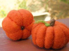 needle felt some pumpkins