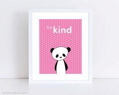 Panda Childrens Art Print by SunnyDoveStudio cute #kawaii #duck #kids #children #baby #nursery #decor #etsy #handmade