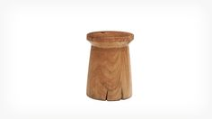 eq3 wood stools - natural, textural and come in many shapes, sizes - perfect for a plant of side table