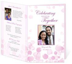 Wedding Programs Templates: Letter Single Fold: Rose Petals DIY Printable Wedding Program Template