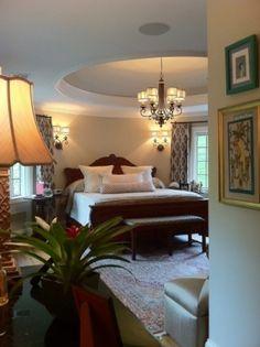 Love this bedroom ceiling! Elegant room.