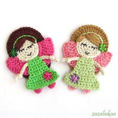 e-shop zdarma - zuzalinkaa Cute Crochet, Crochet Flats, Crochet Fairy, Crochet Angels, Crochet Girls, Crochet Home, Beautiful Crochet, Crochet Flowers, Crochet Motif