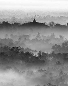 Sunrise of Borobudur Temple, Indonesia