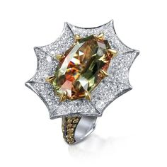 Zultanite and Diamond Ring by Stephen Webster for some reason this ring design reminds me of a dragon