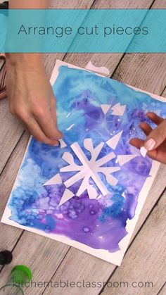 These cut paper snowflakes are inspired by Japanese notan art. Winter Activities For Kids, Winter Crafts For Kids, Easy Christmas Crafts, Art Activities, Diy Crafts For Kids, Art For Kids, Arts And Crafts, Big Kids, Winter Art Projects