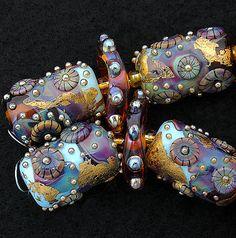 DSG Beads Handmade Organic Lampwork GlassMade To by debbiesanders, $105.00