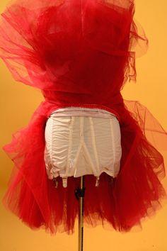 3ce1a3de339a 1950's mermaid hem showgirl dress • Red lace burlesque dress • 50s red  carpet dress