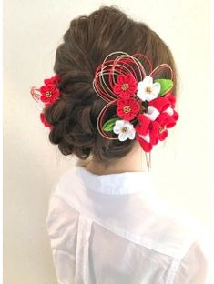 Hair Arrange, Yukata, Japanese Hairstyles, Flower Designs, Kimono, Hair Styles, Imagination, Inspiration, Muse