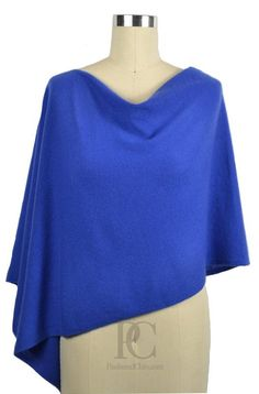 Cruise Blue Poncho Dress Topper. Wear it 4 different ways!!