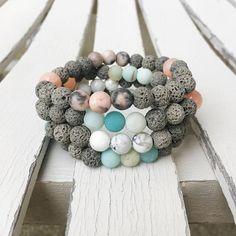 Huile essentielle diffuseur lave Bracelet Perle Bracelet à