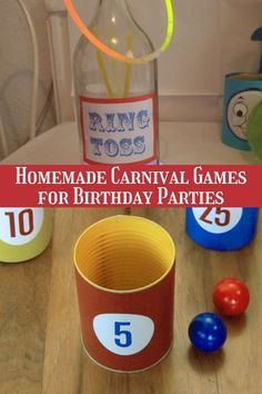 Make These Carnival Birthday Party Games + DIY Ideas - Peachy Party Carnival Themed Party, Carnival Birthday Parties, Circus Party, Birthday Party At Home, Birthday Party Games For Kids, Birthday Party Themes, Printable Bingo Games, Summer Party Games, Carnival Games For Kids