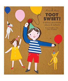 Take a look at this Toot Sweet Children Balloon Holder - Set of Eight by Meri Meri on #zulily today!