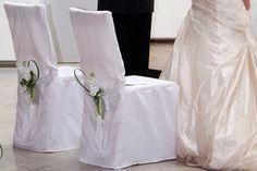 Stuhl Deko für die Hochzeit