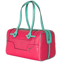 5fe257bc0582 Guess rumi box satchel. Coral and mint.