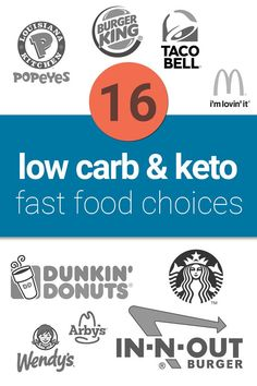 16 Low Carb & Keto Fast Food Choices on the Go Low Carb Keto, Low Carb Recipes, Healthy Recipes, Keto Diet Plan, Ketogenic Diet, Ketosis Diet, Keto Friendly Fast Food, Keto Fast Food Options, Keto On The Go