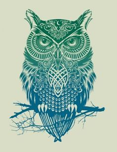 I know I already have one owl tattoo, but this one is gorgeous!