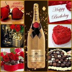 Happy Birthday Quotes For Her, Good Morning Happy, Mood Boards, Champagne, Colours, Bottle, Fashion, Moda, Fashion Styles