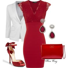 """Paint the town red!"" by keri-cruz on Polyvore"
