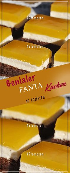 Genialer FANTA-Kuchen mit Quark-Füllung… Ingenious FANTA cake with curd filling: If you don't cost it, you can regret it! Cake Mix Cookie Recipes, Easy Cheesecake Recipes, Peanut Butter Cookie Recipe, Cake Mix Cookies, Healthy Dessert Recipes, Desserts, Easy Vanilla Cake Recipe, Chocolate Cake Recipe Easy, Homemade Chocolate
