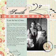 Family heritage scrapbook
