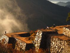 Takeda Castle  Ruins Japan . Takeda  is a Japanese family name.Throughout the course of the Sengoku period (16th century) of Japan, the famed Takeda clan of Kai province had many descendant branch families.