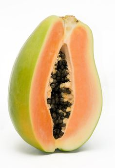 Sliced papaya on white ground Copyright © Christoph Werner. My images may not be reproduced in any form without my written permissi. sliced papaya on white ground Bar Drinks, Cocktail Drinks, Cocktails, All Fruits, Fruits And Vegetables, Chutney, Eden Foods, Mango, Forest Garden