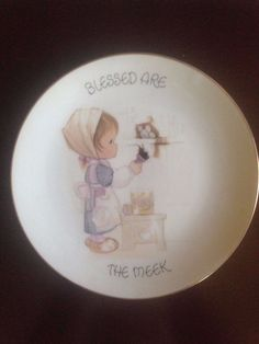 """1980 Precious Moments """"Blessed are the Meek"""" Plate • CAD 16.91"""