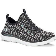 Skechers Flex Appeal 2.0 Insights Women's Shoes ($70) ❤ liked on Polyvore featuring shoes, grey, leopard print slip-on shoes, skechers shoes, slip on shoes, print shoes and skechers footwear