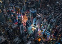 http://ift.tt/1SGOK8t #Architecture #Photography Bird's eye of Time Square at night by sapte http://ift.tt/1TMlfSs