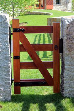 Weston, MA Horse Farm-Look at how green that grass is. The gate looks a little too small though. Farm Gate, Farm Fence, Fence Gate, Horse Stables, Horse Farms, Future Farms, Dream Barn, Entrance Gates, Garden Gates