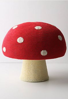 Crocheted mushroom pouf from Anthropologie