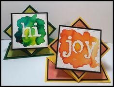 Mixed Media Handmade Spring Pop-up Card using Color Burst from Ken Oliver and stencils from StencilGirl.