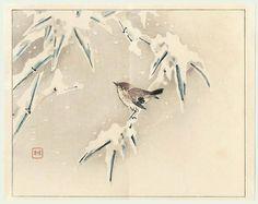 Taki Katei, Sparrow on Snowy Branch