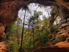 Gray's Arch is a popular stop for hikers and outdoor enthusiasts visiting the Red River Gorge area near Stanton, Kentucky.  Photo credit:  William H Fultz II - Fultz Fotos