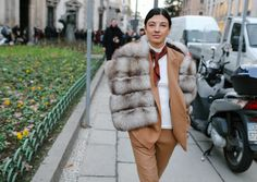 Phil Oh's Best Street Style Pics From Milan's Fall 2017 Men's Shows