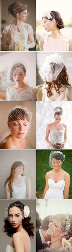 20 Timeless Birdcage Veils...I wonder if my girls will be in love with veils as I am? If not, I'll just wear one as the MOB :)