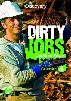 Discovery Channel - Dirty Jobs: Collection 4 (DVD, Set) for sale online Mike Rowe, Tv Show Games, Tv Times, Discovery Channel, Me Tv, My Guy, Science Nature, Picture Photo, Favorite Tv Shows