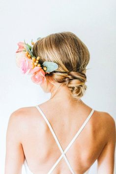 Orange Pink Flower Crown by emilyroseflowercrown on Etsy