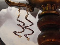 Beaded Spiral Danglers in Metallic by fivefingerscreations on Etsy, $6.00