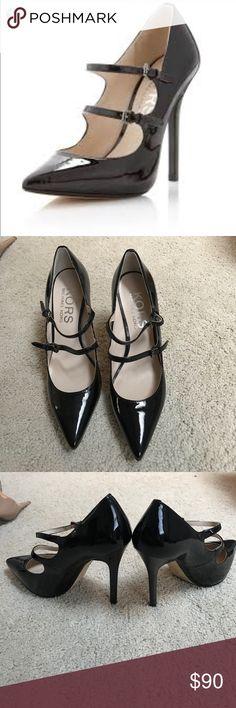 KORS Michael KORS double strap heel Beautiful!!! Never worn excellent condition. KORS Michael Kors Shoes Heels